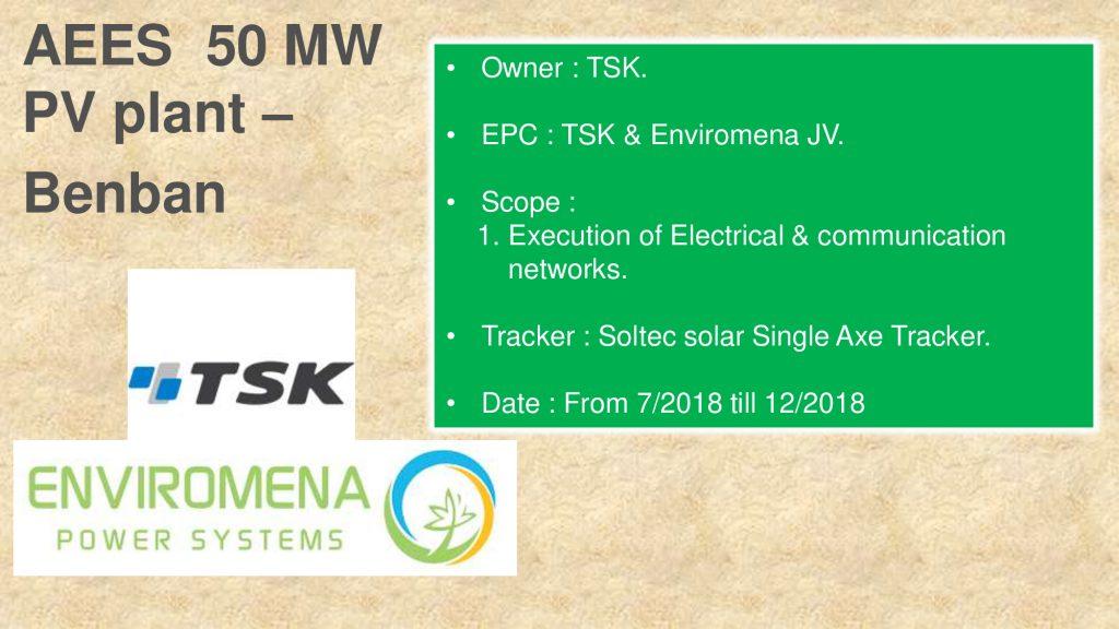 AEES 50 MW PV plant – Benban