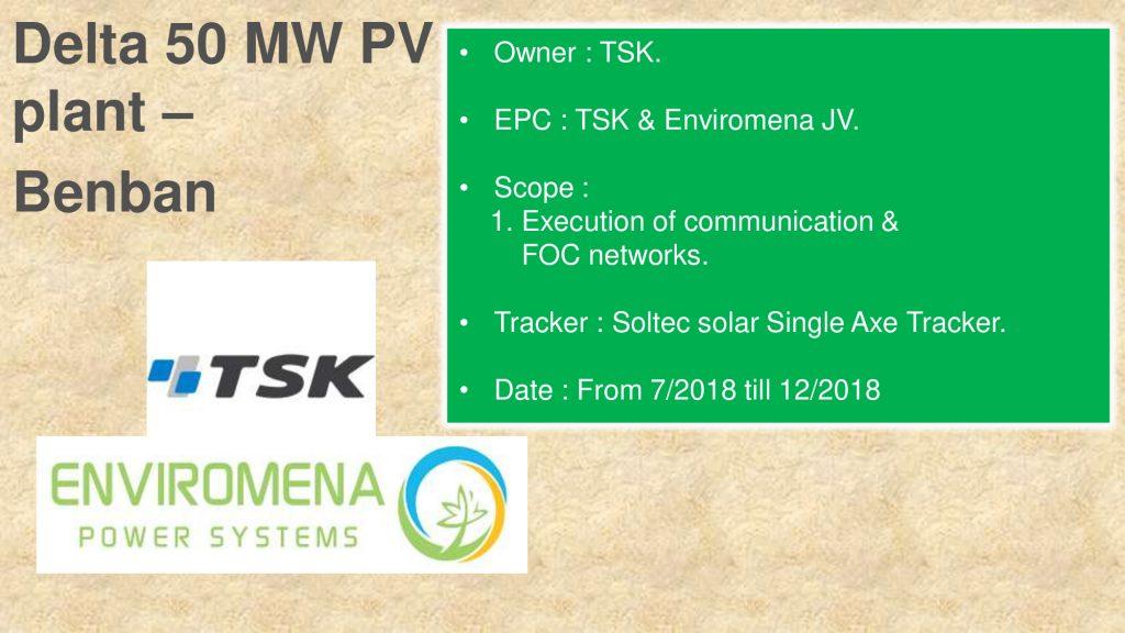 Delta 50 MW PV plant – Benban