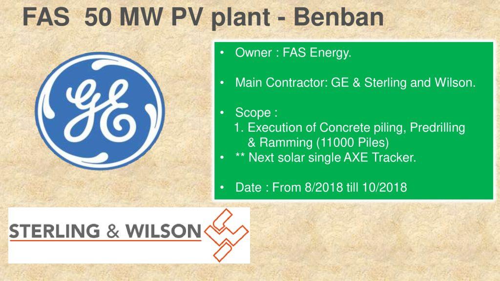 FAS 50 MW PV plant - Benban