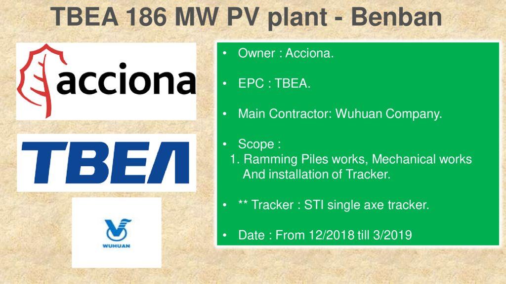 TBEA 186 MW PV plant - Benban