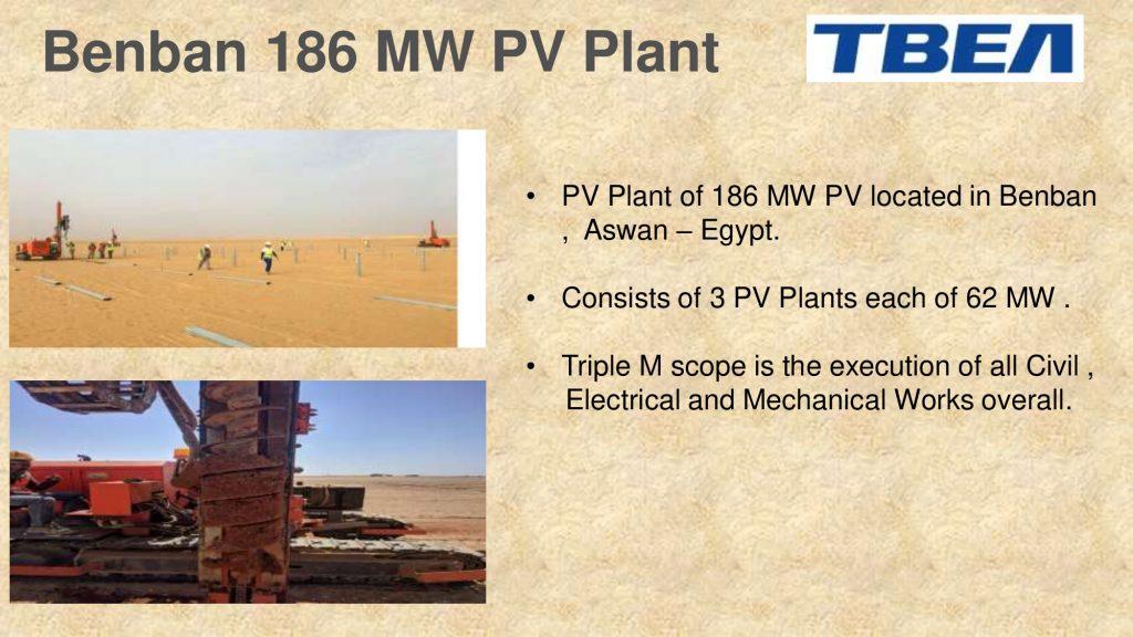 Benban 186 MW PV Plant