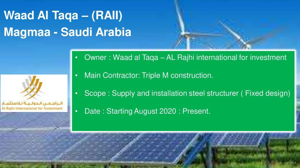 Waad Al Taqa – (RAII) Magmaa - Saudi Arabia