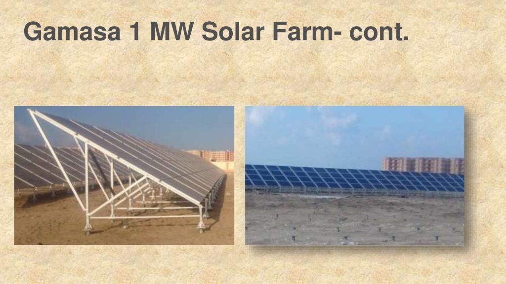 Gamasa 1 MW Solar Farm- cont.