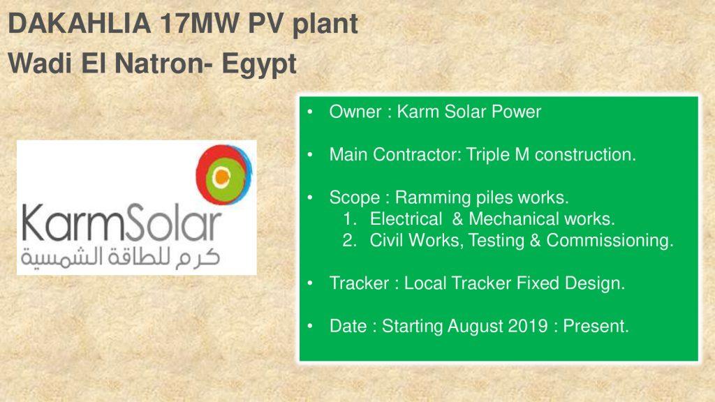 DAKAHLIA 17MW PV plant Wadi El Natron- Egypt