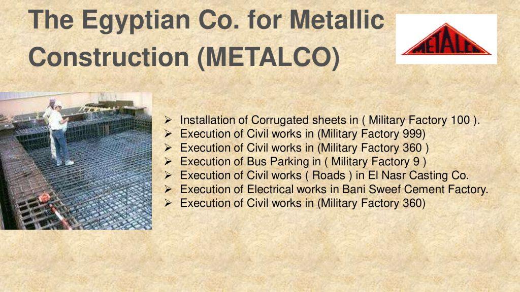 The Egyptian Co. for Metallic Construction (METALCO)