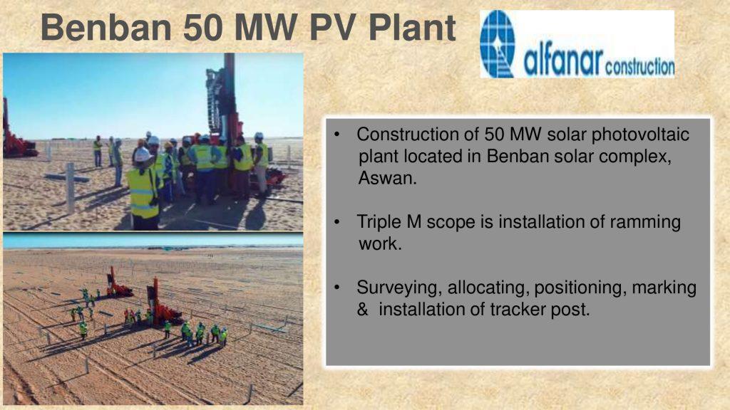 Benban 50 MW PV Plant