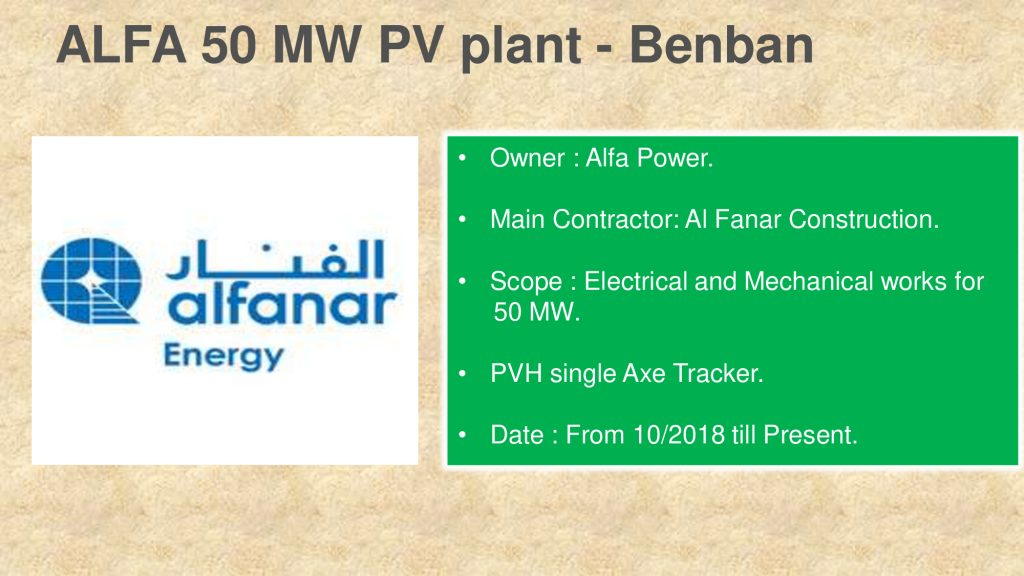 ALFA 50 MW PV plant - Benban